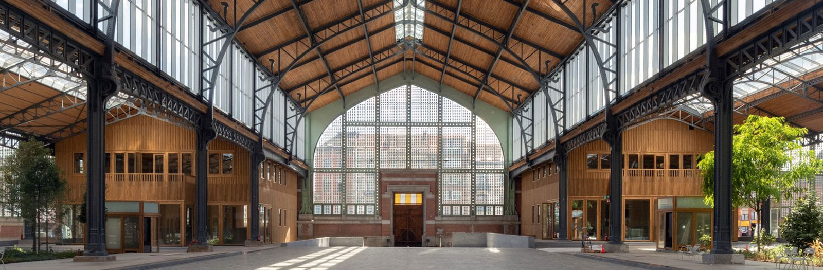 photo of interior of the Gare Maritime building in Brussels