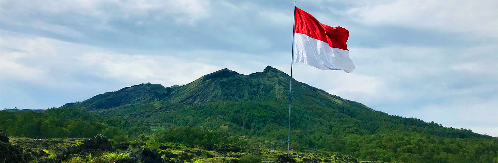 Indonesian flag outdoors
