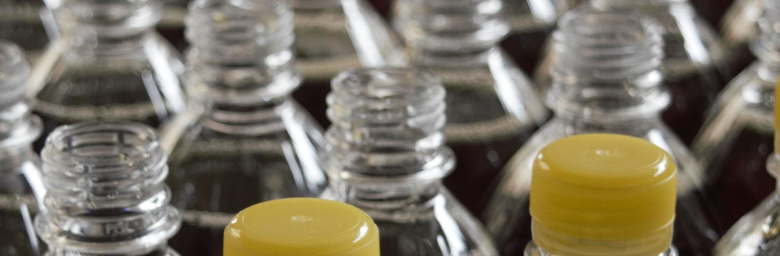 Clear plastic bottles
