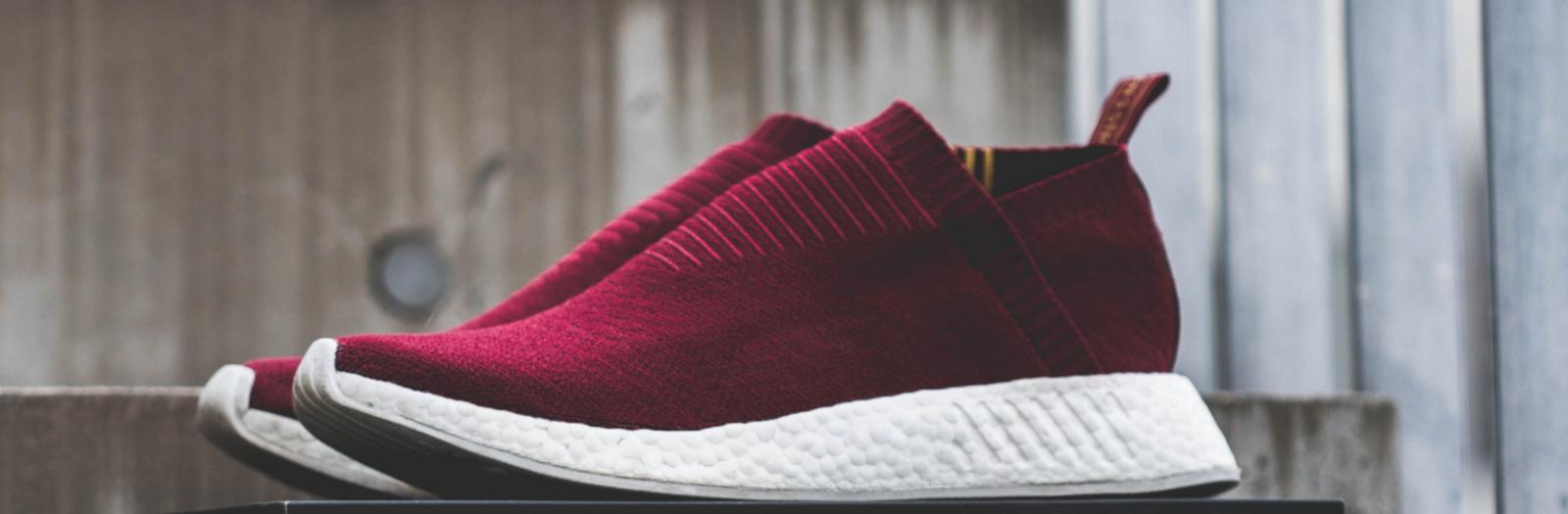 pair of red sneakers