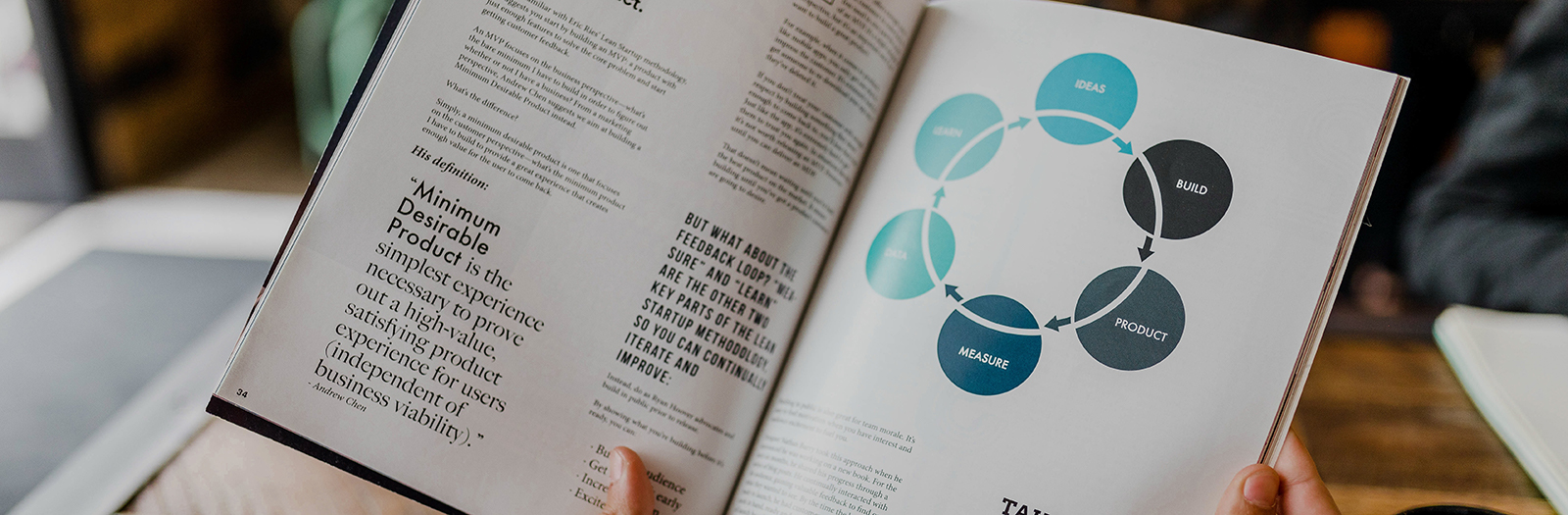 Book with circular graphic