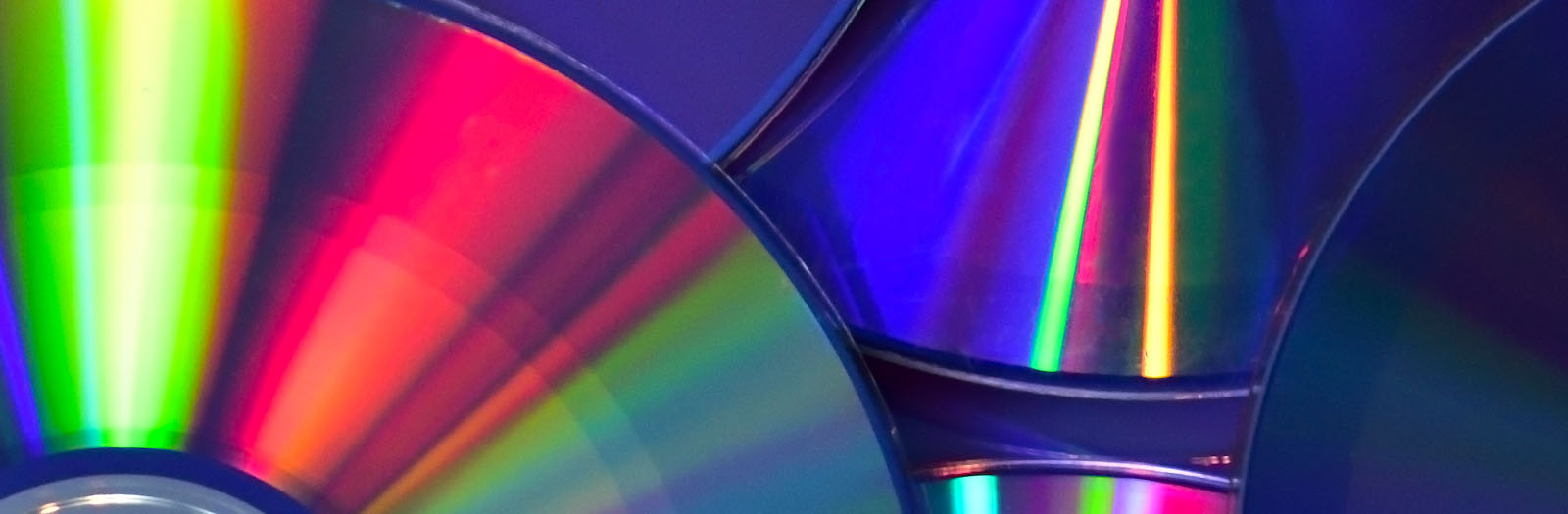 Photo of colorful compact discs