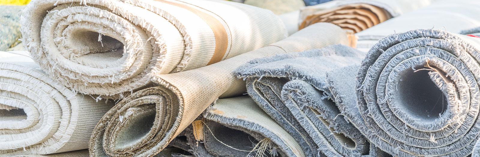 rolls of carpet remnants