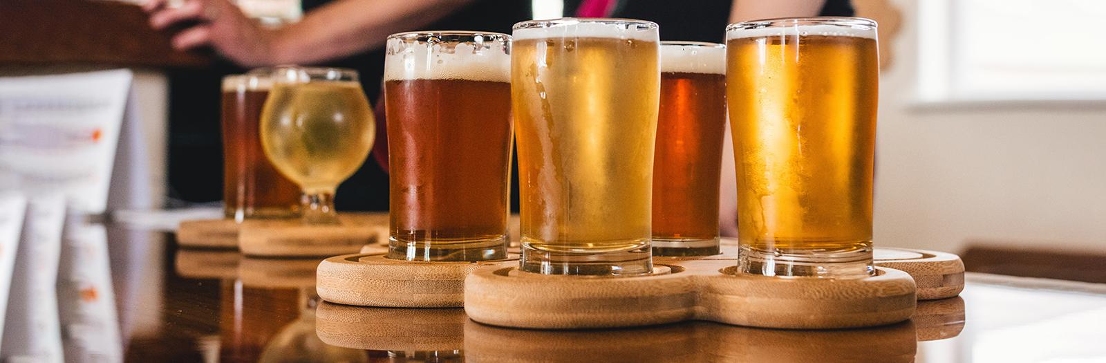assortment of beer
