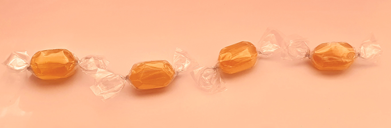 candy with plastic wrapper