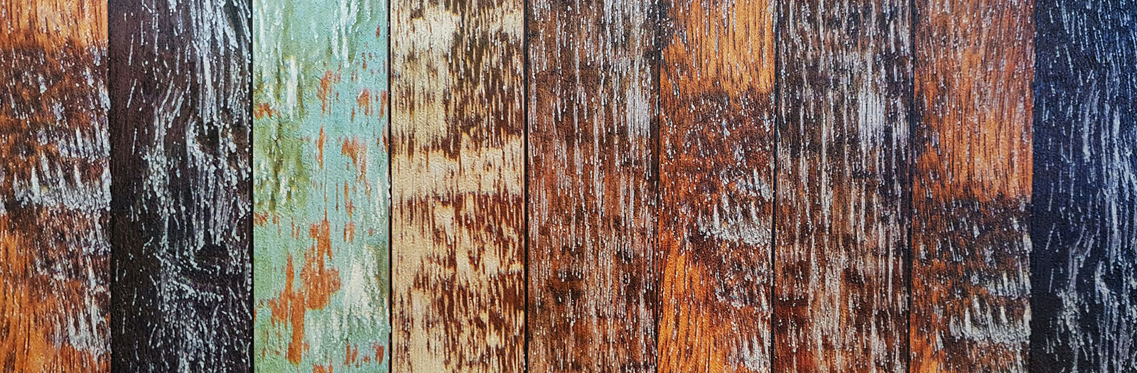 planks of different coloured wood