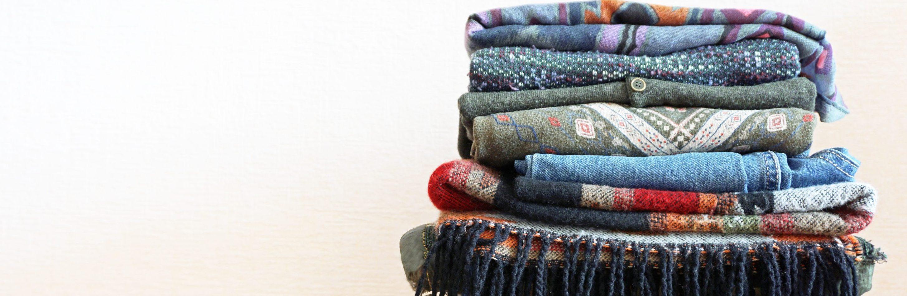pile of folded clothing
